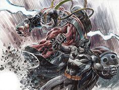 bane vs batman by ardian syaf http://ardian-syaf.deviantart.com/
