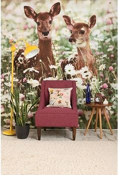 {deer on the wall} dreamy!