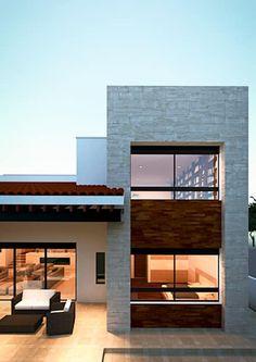 Desain Rumah Berbentuk Kotak Minimalis Modern Fachada Casas De Estilo