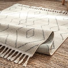 Shop for The Curated Nomad Ashbury Contemporary Geometric Tassel Area Rug. Get free delivery On EVERYTHING* Overstock - Your Online Home Decor Store! Rugs In Living Room, Living Spaces, Area Rugs For Sale, Rugs Usa, Farmhouse Rugs, Online Home Decor Stores, Memorable Gifts, Tassels, How To Memorize Things