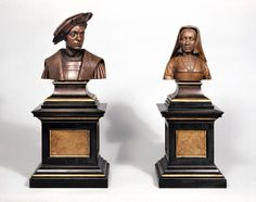 Margaret of Austria and Philibert of Savoy, Conrat Meit, 1515–25. Boxwood