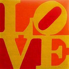 ROBERT INDIANA http://www.widewalls.ch/artist/robert-indiana/ #RobertIndiana #hardedgepainting #popart #sculpture #stencil