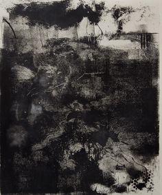 Alan Flood(British)Whitby storm  monoprint on paper  via