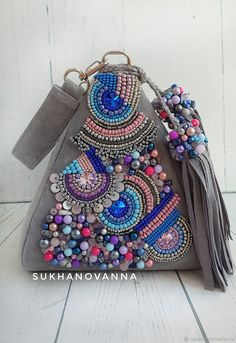 Embroidery Purse, Tambour Embroidery, Hand Embroidery Flowers, Beaded Boxes, Beaded Purses, Handmade Handbags, Handmade Bags, Diy Bags Patterns, Potli Bags
