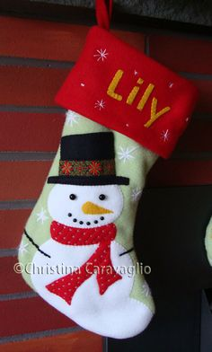 snowman stocking - Google Search