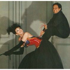 Azzedine Alaia and Beatrice Dalle by Jean Paul Goude.