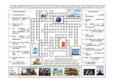 One-click print document How To Speak French, Teaching French, France, Crossword, Questions, Floor Plans, Diagram, The Unit, School