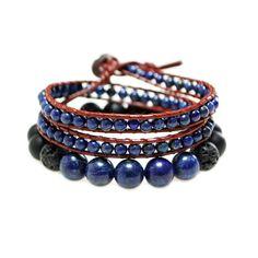 Pack de bracelet & Wrap Lapis Lazuli