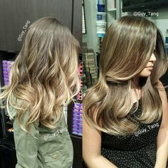 Do you like Beachy blondes with tousled curls or Sandy blondes with body waves? #ombre #balayage #guytang