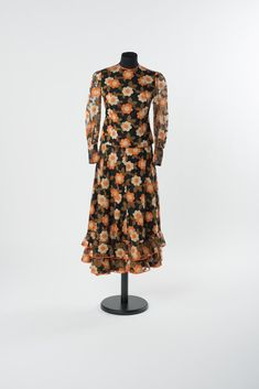 St Gallen, Online Collections, Victorian, Dresses With Sleeves, Long Sleeve, Fashion, Atelier, Black Flowers, Cotton