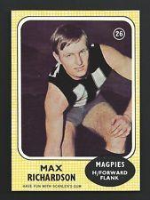 1970 Scanlens AFL VFL Card 26 Max Richardson Collingwood Football Cards, Baseball Cards, Collingwood Football Club, Sports, Ebay, Soccer Cards, Hs Sports, Sport