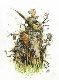 Radagast the Brown by Skottie Young Skottie Young, Radagast The Brown, Silence In The Library, Elf Druid, Young Art, Lord Of The Rings, Tolkien, Lotr, The Hobbit