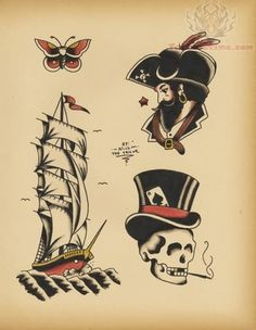 ... Photos - Pirate Tattoo Designs Old School Tattoo Designs Free Tattoo