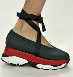 T's Daily Shoe: Espadrille-Style Sneakers at Marni. #PFW #SS15 (Photo: Firstview)