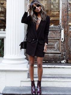 Oui à la veste de smoking déclinée en robe !