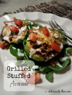 Grilled stuffed avocado is an explosion of flavor and all things wonderful and right about mealtime.
