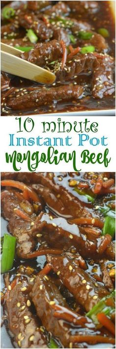 Share with friends 1 1ShareInstant Pot Mongolian Beef I have been dying to try out Mongolian Beef in the Instant Pot. My General Tso's Chicken and Better than Take out Beef  Broccoli were amazing so I knew that Mongolian Beef would be a big hit in our house. Mongolian Beef is very similar to Beef and …