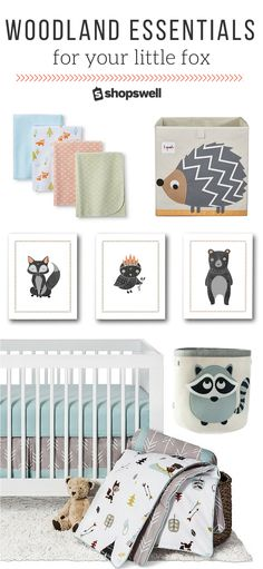 From hedgehogs to foxes and deer this baby nursery collection has everything you need to rock the woodland trend.