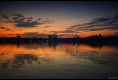 Sunset in Bucharest, RO (by Vlad Eftenie)
