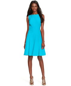 Lauren Ralph Lauren Flared Sleeveless Dress