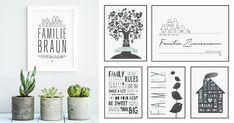 Beispiele für verschiedene Design Poster die sich toll als Geschenk für Eltern eigenen. Love Your Smile, My Love, Text Poster, Family Poster, Do Your Best, Gallery Wall, Frame, Design, Home Decor