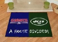 A House Divided Mat NY Giants/ NY Jets FREE SHIPPING