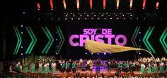Simply Paper Stage Design from Iglesia de Cristo Ebenezer Honduras in San Pedro Sula, Honduras brings us this great stage backdrop.   Church Stage Design Ideas