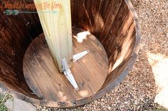 DIY Sturdy Planted Posts | Complete step-by-step tutorial to create posts in planters that are guaranteed not to blow over or shift.