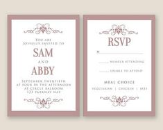 Etsy :: Your place to buy and sell all things handmade Wedding Card Templates, Thank You Cards, Rsvp, Special Occasion, Etsy Seller, Place Card Holders, Invitations, Words, Creative