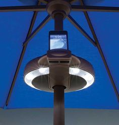 Serenata Light and Sound System for Market Umbrellas Poolside ipod dock