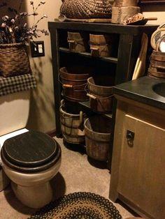 Bathroom Primitives #PrimitiveBathrooms