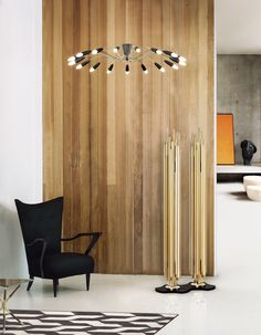 Fall in love with Brubeck floor light. A modern lighting which adds a contemporary touch to your living room.