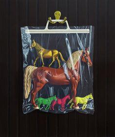 Simon Monk's 'Secret Identity' Paintings Play Horse, Sweet Station, Painting Plastic, Pop Surrealism, Childhood Memories, Illustration Art, Illustrations, Contemporary Art, Identity