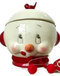 Dept 56 Snowpinions Snowman Covered Candy Dish Red Bird Scarf Ear Muffs | Collectibles, Decorative Collectibles, Decorative Collectible Brands | eBay!
