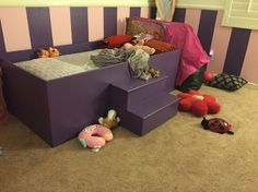 Unfinished Princess twin bed.