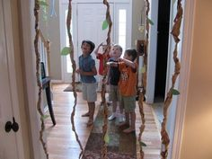 Like the idea of the vines- could be fairly easily made and hung over the doorways?