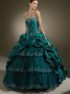 Ball Gown Strapless Taffeta Floor-length Sleeveless Crystal Detailing Quinceanera Dresses at pickedlooks.com