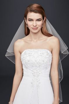 Designed with elegance in mind, this A-line wedding dress with detachable cap sleeves features a chiffon split front overlay and metallic embroidery. It\'s a perfect option for an untraditional weddin Sell Wedding Dress, Fairy Wedding Dress, Wedding Dress Styles, Bridal Gowns, Wedding Gowns, Tea Length Dresses, Mermaid Dresses, Davids Bridal, Ball Gowns