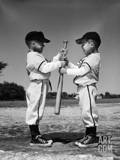 Two Boys in Little League Uniforms, Facing Each Other, Holding Baseball Bat Photographic Print Softball Photos, Baseball Pictures, Boy Pictures, Sports Pictures, Little League Baseball, Baseball Boys, Baseball Gloves, Espn Baseball, Travel Baseball