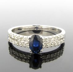 Sapphire and Diamond Set Ring. - Geeves Jewellers - suppliers of watches and jewellery, London