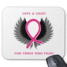 Breast Cancer Pink Ribbon Awareness Mouse Pad Custom Office Retirement #office #retirement