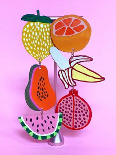Party Hacks, The Fresh, Summer Looks, Handmade Art, Wall Collage, Beautiful Day, Food Art, Art Projects, Dangles