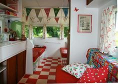THIS is the look (but not sure about the red n white checker tiles...)