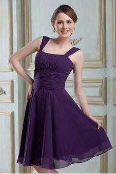 Classic A Line Square Neckline Knee Length Dress