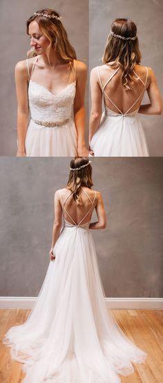 lace long wedding dresses, wedding dresses 2017, backless wedding dresses for bridal, bridal gowns for party