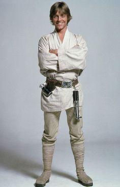 Mark Hamill as Luke Skywalker in 'Star Wars'. Luke Skywalker Halloween Costume, Star Wars Halloween Costumes, Jedi Costume, Star Wars Luke Skywalker, Starwars, Star Wars Episode Iv, Nerd, The Big Lebowski, Kitty Cats