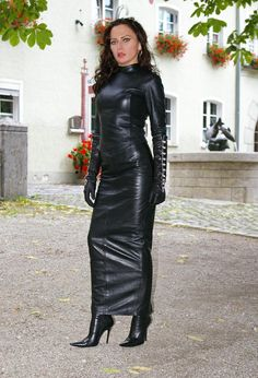 Exercising constraint - one long, shiny leather skirt at a time.