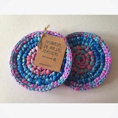posavasos de #bolsasplasticas tejidas a #crochet al ser...