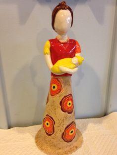 La madre sin cara Ceramica by Helen