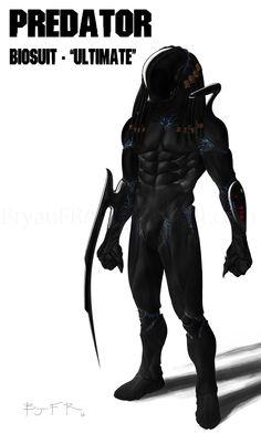 Predator suit, Bryan Fogaça Rosado on ArtStation at https://www.artstation.com/artwork/predator-suit